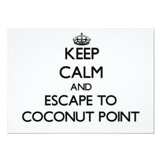 "Keep calm and escape to Coconut Point Samoa 5"" X 7"" Invitation Card"