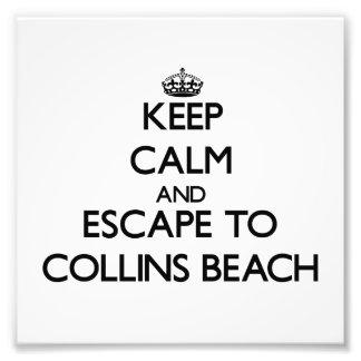 Keep calm and escape to Collins Beach Rhode Island Photo