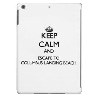 Keep calm and escape to Columbus Landing Beach Vir iPad Air Cases