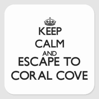 Keep calm and escape to Coral Cove Florida Stickers