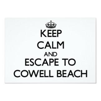 Keep calm and escape to Cowell Beach California 5x7 Paper Invitation Card