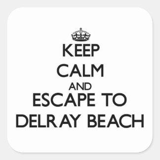 Keep calm and escape to Delray Beach Florida Square Sticker