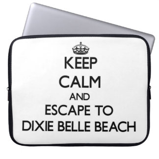 Keep calm and escape to Dixie Belle Beach Florida Laptop Sleeve