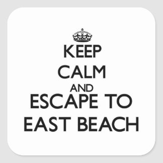 Keep calm and escape to East Beach Massachusetts Square Sticker