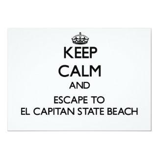 Keep calm and escape to El Capitan State Beach Cal Custom Announcement