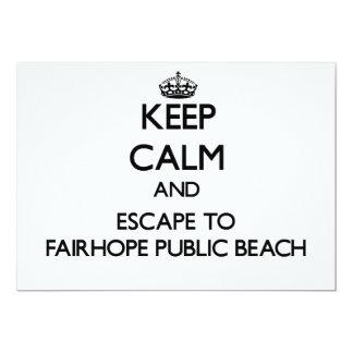 """Keep calm and escape to Fairhope Public Beach Alab 5"""" X 7"""" Invitation Card"""