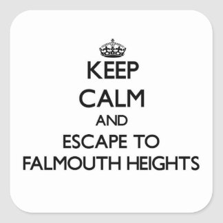 Keep calm and escape to Falmouth Heights Massachus Square Sticker