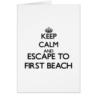 Keep calm and escape to First Beach Guam Greeting Cards