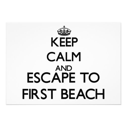 Keep calm and escape to First Beach Guam Personalized Announcements