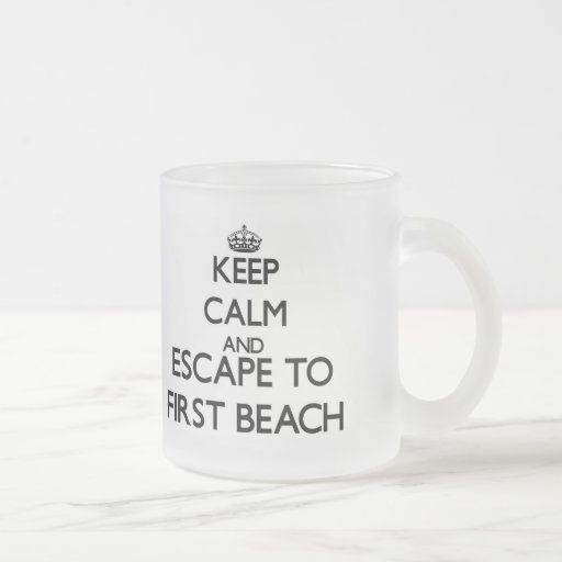 Keep calm and escape to First Beach Guam Mugs
