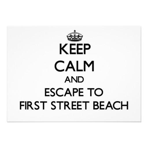 Keep calm and escape to First Street Beach Michiga Invites