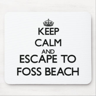 Keep calm and escape to Foss Beach New Hampshire Mouse Pads