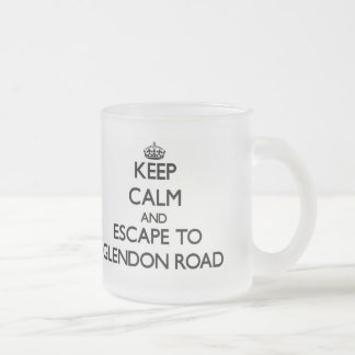 Keep calm and escape to Glendon Road Massachusetts 10 Oz Frosted Glass Coffee Mug