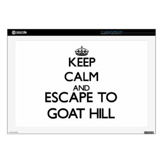 Keep calm and escape to Goat Hill Massachusetts Laptop Skin