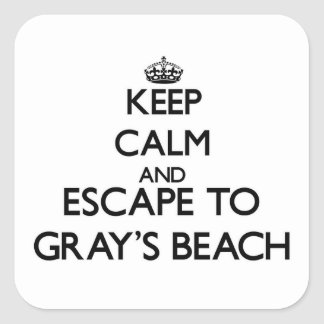 Keep calm and escape to Gray'S Beach Massachusetts Square Sticker
