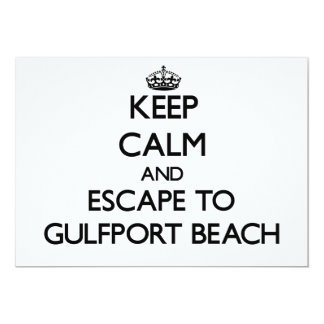 Keep calm and escape to Gulfport Beach Mississippi Card
