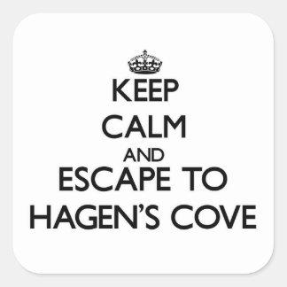 Keep calm and escape to Hagen S Cove Florida Square Sticker