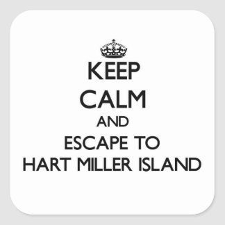 Keep calm and escape to Hart Miller Island Marylan Sticker