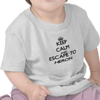 Keep calm and escape to Heron Massachusetts Shirt