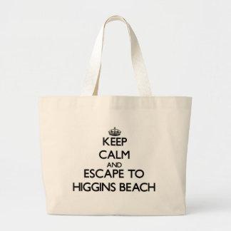 Keep calm and escape to Higgins Beach Maine Jumbo Tote Bag