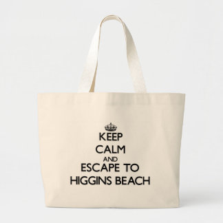 Keep calm and escape to Higgins Beach Maine Large Tote Bag