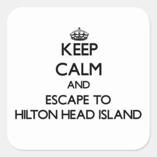 Keep calm and escape to Hilton Head Island South C Square Sticker