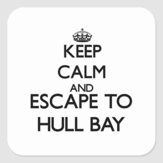 Keep calm and escape to Hull Bay Virgin Islands Square Sticker