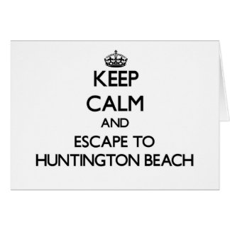 Keep calm and escape to Huntington Beach Virginia Stationery Note Card