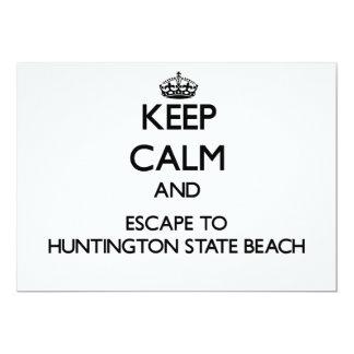 Keep calm and escape to Huntington State Beach Cal Invitations