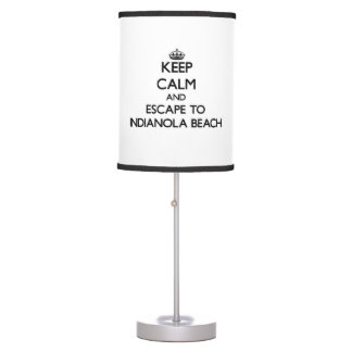 Keep calm and escape to Indianola Beach Texas Lamps
