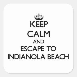 Keep calm and escape to Indianola Beach Texas Square Sticker