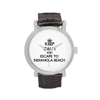 Keep calm and escape to Indianola Beach Texas Wrist Watch