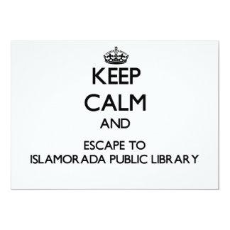 """Keep calm and escape to Islamorada Public Library 5"""" X 7"""" Invitation Card"""