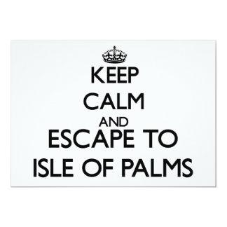 Keep calm and escape to Isle Of Palms South Caroli 5x7 Paper Invitation Card