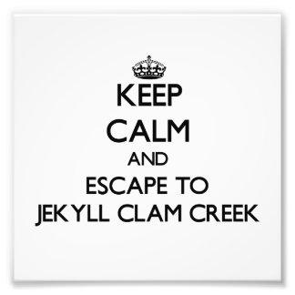 Keep calm and escape to Jekyll Clam Creek Georgia Photographic Print