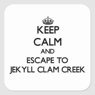 Keep calm and escape to Jekyll Clam Creek Georgia Stickers