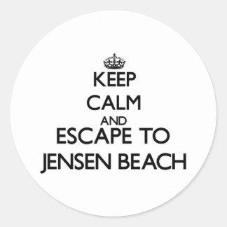 Keep calm and escape to Jensen Beach Florida Round Sticker