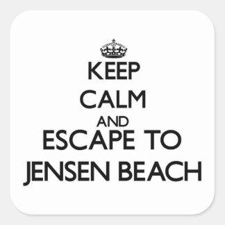 Keep calm and escape to Jensen Beach Florida Square Stickers