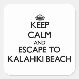 Keep calm and escape to Kalahiki Beach Hawaii Sticker