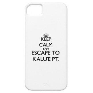 Keep calm and escape to Kalu'E Pt. Hawaii iPhone 5 Case