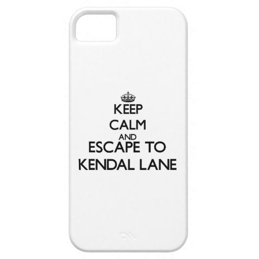 Keep calm and escape to Kendal Lane Massachusetts Cover For iPhone 5/5S
