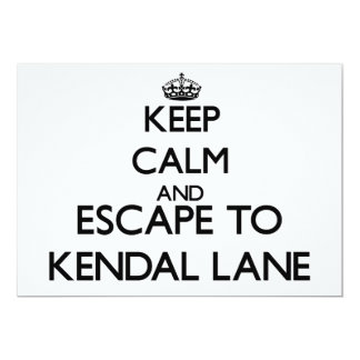 Keep calm and escape to Kendal Lane Massachusetts Invite