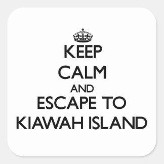 Keep calm and escape to Kiawah Island South Caroli Square Sticker