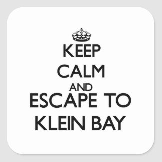 Keep calm and escape to Klein Bay Virgin Islands Square Sticker