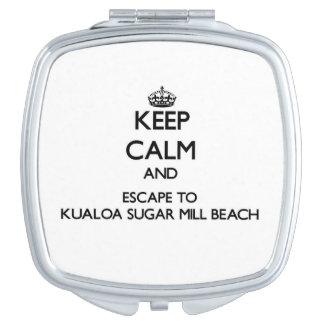 Keep calm and escape to Kualoa Sugar Mill Beach Ha Travel Mirror