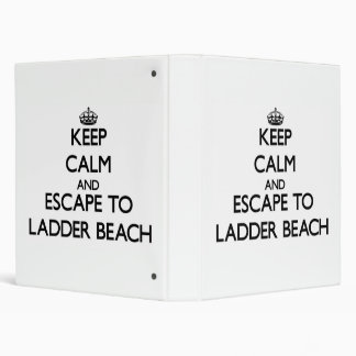 Keep calm and escape to Ladder Beach Northern Mari 3 Ring Binders