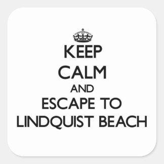 Keep calm and escape to Lindquist Beach Virgin Isl Square Sticker