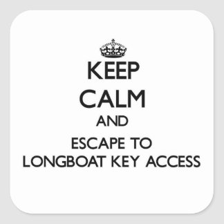 Keep calm and escape to Longboat Key Access Florid Sticker