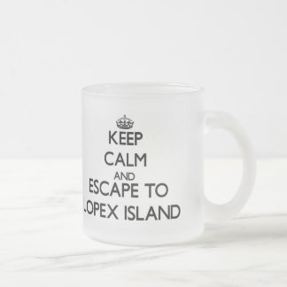 Keep calm and escape to Lopex Island Washington Frosted Glass Coffee Mug