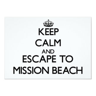 Keep calm and escape to Mission Beach California 5x7 Paper Invitation Card